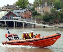 9.16844 Portishead RNLI Opening Boat Ramp Boathouse